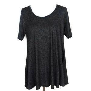 Lularoe Women's Perfect T Heather Gray Solid Tunic